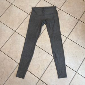 Gray Lululemon yoga pants